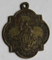 Ancienne Médaille Religieuse Pape Leone XIII Giubileo Secolare Anno Santo Roma 1900 Léon 13 - Religion & Esotérisme
