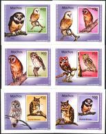 A{188} Guinea Bissau 2010 Birds Owls 6 S/S Deluxe MNH** - Guinea-Bissau