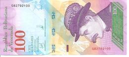 Venezuela   New   100 Bolivares  22 03 2018  UNC - Venezuela