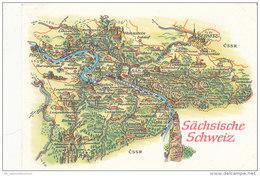 Landkarte / Map / Mapcard: Sächsische Schweiz (D-A205) - Maps