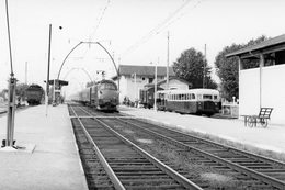 """Facture. Locomotive 2D2 Sous-série 5538 à 5545. Train Rapide """"Sud-Express"""". Cliché Jacques Bazin. 30-08-1958 - Trains"""
