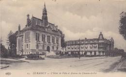 93. LE RAINCY. L'HOTEL DE VILLE ET AVENUE DU CHEMIN DE FER. ANNÉE 1917 - Le Raincy