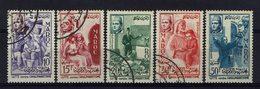 Maroc - 1956 - N° 369 à 373 - Oblitérés (N° 373 Neuf Sans Charnière XX)  TB - - Gebraucht