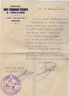 VP14.951 - Mairie D'ESTAGEL 1956 - Lettre De Mr Th. MARCEL Relative à Mr E. GONY Professeur ....à PERPIGNAN - Alte Papiere