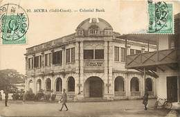 Pays Div -ref T168- Accra - Ghana Gold Coast - Colonial Bank - Banques - Banque Coloniale  - - Ghana - Gold Coast