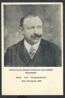 +++ CPA - Boortmeerbeek - HEVER - 1909 - Herinnering ....Burgemeester  - VAN LANGENDONCK  // - Boortmeerbeek