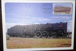 O) 1983 SOUTH AFRICA, STEAM LOCOMOTIVES- TRAIN CLASS 16E SCT 615, MAXIMUM CARD, XF - Covers & Documents