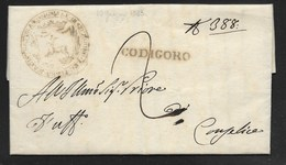 DA CODIGORO A CONSELICE - 19.6.1833. - Italy