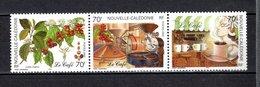 NOUVELLE CALEDONIE  N° 869 à 871  NEUFS SANS CHARNIERE COTE 6.00€   CAFE FLEUR AGRICULTURE - Nouvelle-Calédonie