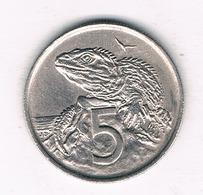 5  CENTS 1967 NIEUW ZEELAND /4212/ - Nouvelle-Zélande