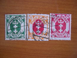 Dantzig Obl N° 84, 85, 90 - Autres - Europe