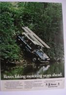 LANDROVER -ORIGINAL 1972 MAGAZINE ADVERT. - Advertising