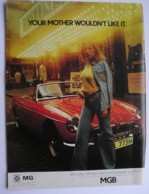 BRITISH LEYLAND M.G. MTOR CAR  -ORIGINAL 1973 MAGAZINE ADVERT. - Advertising