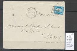 France - GC 2682 NONZA  CORSE - 1872 - Postmark Collection (Covers)
