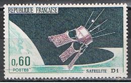 (1F 642) FRANCE // YVERT 1476 // SATELITE D1 //  1966 - France