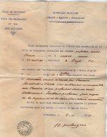 VP14.952 - Ville De PERPIGNAN 1955 - Lettre Du Directeur De L'école Des Beaux - Arts Relative Au Professeur E. GONY - Alte Papiere
