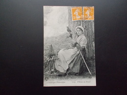 AUVERGNE  Fileuse Au Rouet  1923 - Europe