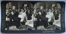 PHOTO STEREOSCOPIC STEREO H.C. WHITE CO. , CHICAGO , NEW YORK, LONDON , DEAR ODL GRANDPA - FAMILY PHOTO 1907. - Stereo-Photographie