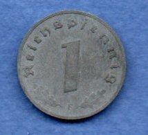 Allemagne  - 1 Reichspfennig  1943F  -  état  TB+ - [ 4] 1933-1945 : Tercer Reich