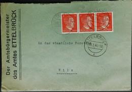 Ettelbruck - Brief Amtsbürgermeister Des Amtes Ettelbrück Nach Wiltz, Forstamt - Stempel 09-02-1944 - 1940-1944 Deutsche Besatzung