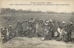 Pays Div -ref T159- Soudan - Collection Fortier - Peche Dans Une Mare - Femmes Se Disposant A Entrer Dans L Eau - - Sudan