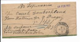 Russland S 4 C  - 2 Kop Wappen - Streifband Von Radin (russ. Polen) Nach Kassel Verwendet - 1857-1916 Imperium