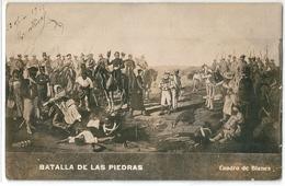 Carte Photo N Et B   D' URUGUAY    -  Batalla De Las Piedras  -  Cuadro De Blancs .  - - Uruguay