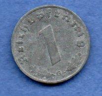 Allemagne  - 1 Reichspfennig  1942 G - Km # 97  -  état  TB+ - [ 4] 1933-1945 : Troisième Reich