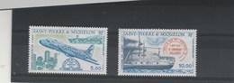 Saint Pierre Et Miquelon 1987 Yvert  PA 64 Et 65 ** Neuf Sans Charnière - Avion Bateau - Airmail