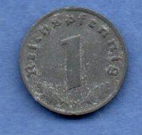 Allemagne  - 1 Reichspfennig  1942 D - Km # 97  -  état  TB+ - [ 4] 1933-1945 : Troisième Reich