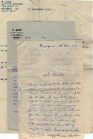 VP14.954 - ESTAGEL X PERPIGNAN 1955 - Lot De Documents Concernant Mr E. GONY Artiste - Peintre Dont Une Lettre Signée - Alte Papiere