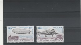 Saint Pierre Et Miquelon 1988 Yvert  PA 66 Et 67 ** Neuf Sans Charnière - Avion Zeppelin - Airmail