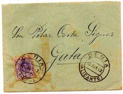 Carta Con Matasellos 1912 Denia. - Cartas