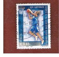 ITALIA REPUBBLICA  -  2007 PALLACANESTRO FEMMINILE   - USATO ° - 6. 1946-.. Republik