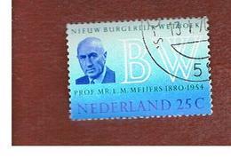 OLANDA (NETHERLANDS) -  SG 1104  -   1970 NEW CIVIL CODE     -  USED (°) - Periodo 1949 - 1980 (Giuliana)