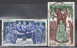 (1F 654) FRANCE // YVERT 1537 + 1539 // HUGUES CAPET ET SAINT LOUIS // 1967 - France