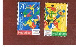 OLANDA (NETHERLANDS) - SG 1685.1686  - 1993  EUROPEAN YOUTH OLYMPIC  DAYS   (COMPLET SET OF 2)       -  USED - Periodo 1980 - ... (Beatrix)