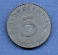 Allemagne --  5 Reichspfennig  1941 B  - Km # 100  - état  TB+ - [ 4] 1933-1945 : Third Reich
