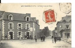 LANHELIN Ille Et Vilaine Recette Auxiliaire Sur 10c Semeuse 10.8.1915 Sur Cpa La Poste Et Route De Miniac  ...G - Marcophilie (Lettres)