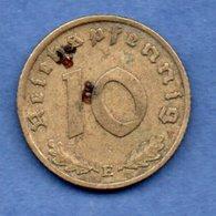 Allemagne --  10 Reichspfennig  1939 E  - Km # 92  - état  TB+ - [ 4] 1933-1945 : Third Reich