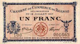 6884-2019    BILLET CHAMBRE DE COMMERCE  DE ROANNE - Chamber Of Commerce