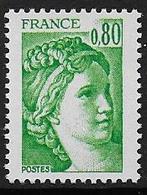 Sabine N° 1970a ** - Sans Phosphore Gomme Brillante . Signé Calves - Cote : 90 € - 1977-81 Sabine Of Gandon