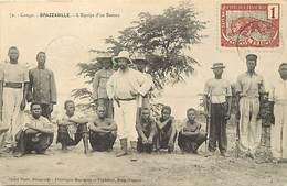 Pays Div -ref T150- Congo - Brazzaville - L Equipe D Un Bateau - - Brazzaville