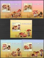 A{220} Guinea Bissau 2010 Mushrooms 5 S/S Deluxe MNH** - Guinea-Bissau
