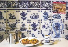 Postal Máximo Doces Tradicionais 2019 Portugal Food Cake Gastronomie Gastronomy Pastel De Nata Essen Maxicard Maximum - Alimentazione