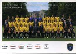 CPM - Équipe De Sochaux Montbéliard Saison 2010/2011 - Football