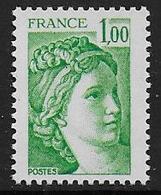 Sabine N° 1973b ** - Sans Phosphore Gomme Brillante . Signé Calves - Cote : 20 € - 1977-81 Sabine Of Gandon