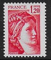 Sabine N° 1974b ** - Sans Phosphore Gomme Brillante . Signé Calves - Cote : 20 € - 1977-81 Sabine Of Gandon