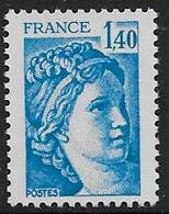 Sabine N° 1975b ** - Sans Phosphore Gomme Brillante . Signé Calves - Cote : 60 € - 1977-81 Sabine Of Gandon