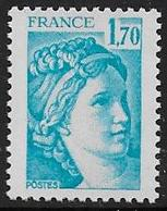 Sabine N° 1976b ** - Sans Phosphore Gomme Brillante . Signé Calves - Cote : 40 € - 1977-81 Sabine Of Gandon